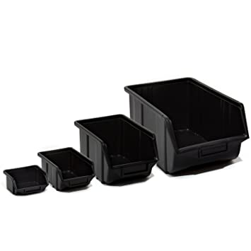 Stapelbox Sichtlagerkästen Kunststoff PP Lagerbox 110 x 165 x 75 mm Größe 1