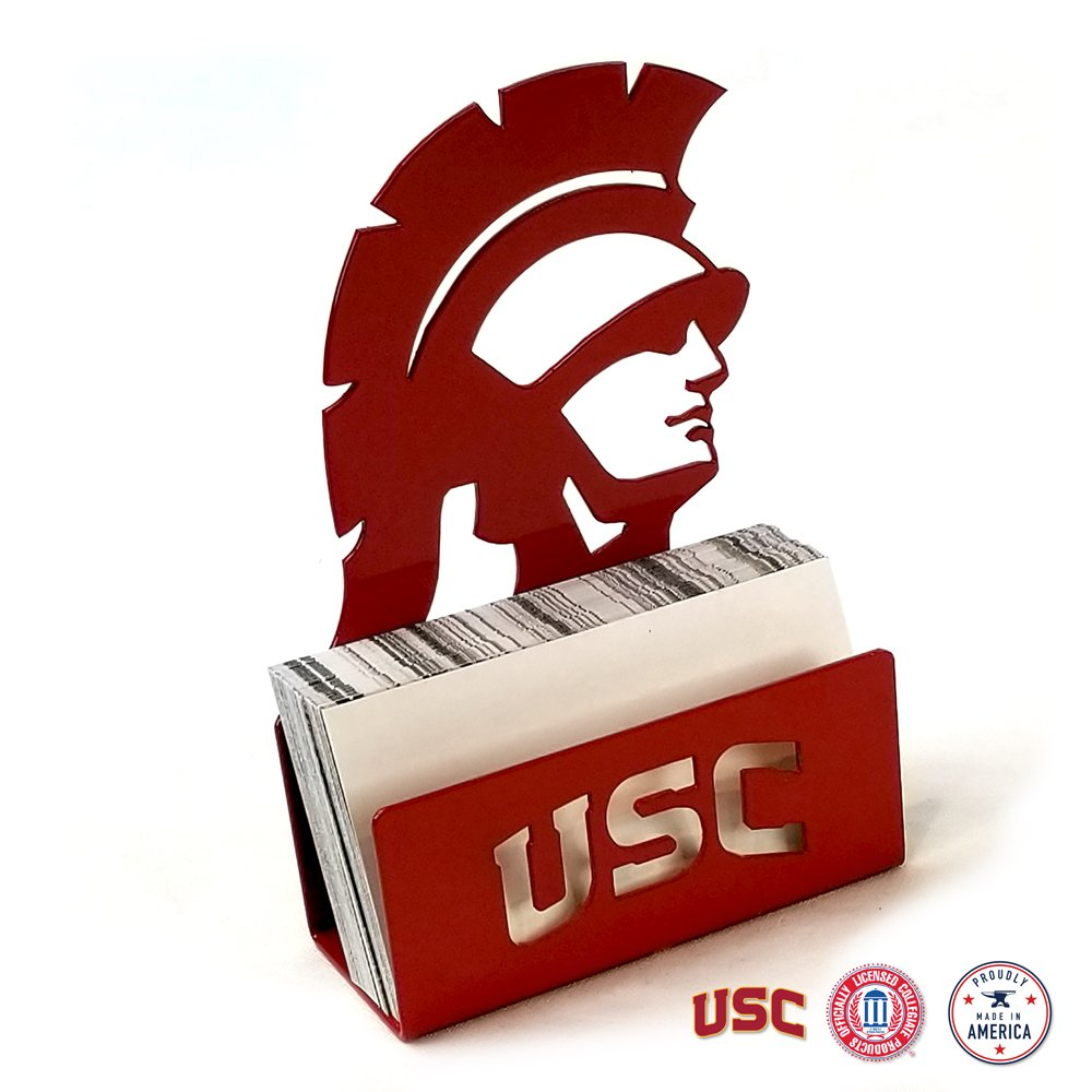 Gameday Ironworks USC Trojans Steel Business Card Holder