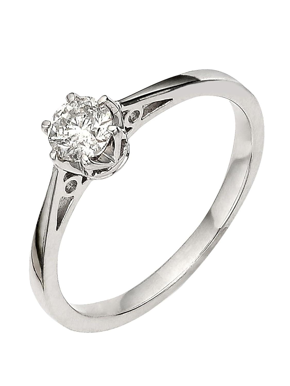 914c09bfdfafa premium 1/6 carat diamond solitaire engagement ring: Amazon.co.uk: Jewellery