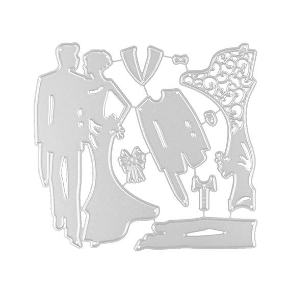 ❤️JiaMengTroqueles Scrapbooking Corazón de la Flor Plantillas de Troqueles de Corte de Metal DIY Scrapbooking Album Paper Card (10): Amazon.es: Ropa y ...
