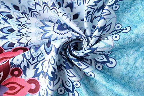 Luranee Hawaiian Shirts for Women, Girls Loose Fit Tank Tops Crew Neck Blouses Fancy Sleeveless Shirt Baggy Modest Morden Beautiful Chic Asymmetric Hem Business Outfits Green XXL by Luranee (Image #6)
