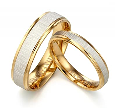 Gemini His or Her 18K Yellow Gold Filled Anniversary Wedding Ring