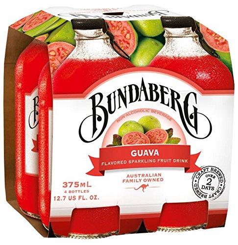Bundaberg Sparkling Fruit Drink, Guava, 12.7 fl oz, 4 Count