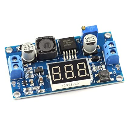 amazon com dzs elec xl6009 dc dc booster regulator module input 3amazon com dzs elec xl6009 dc dc booster regulator module input 3 32v to output 5 35v instead of lm2577 with digital tube display step up module home