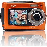 SVP 2.7 inch Dual Screen Orange Aqua5800 Underwater Camera