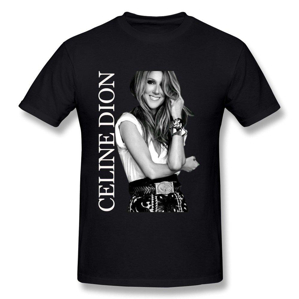 Fanduanxiu S Celine Dion Tshirts Black