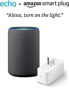 Echo (3rd Gen) bundle with Amazon Smart Plug - Charcoal