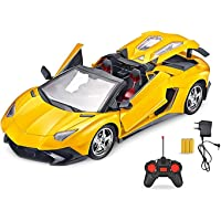 Webby Rechargeable Remote Control LED Toy Car (Yellow)
