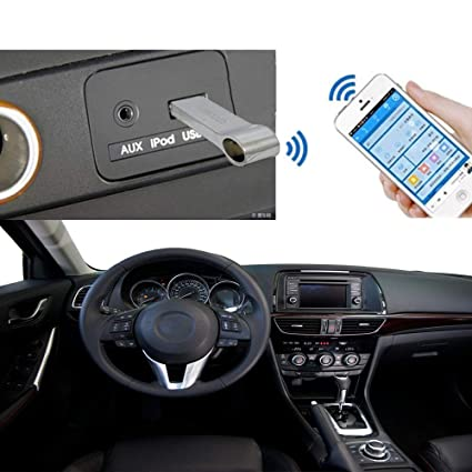 Trost USB Bluetooth Music Receiver Audio Stereo Converter Adapter for Car  (Silver)