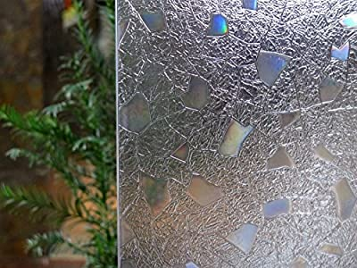 Bloss Privacy Window Film Decorative Window Films Glass Film Window Cling Film Non Adhesive Heat Control Anti UV Window Films Home Office