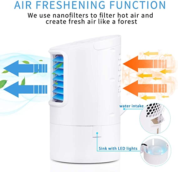 Liveday Rechargeable Water-Cooled Air Conditioner Desktop Cooling Fan Air Cooler for Summer Home