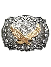 Original Western Rodeo Fly Eagle Double Color Belt Buckle