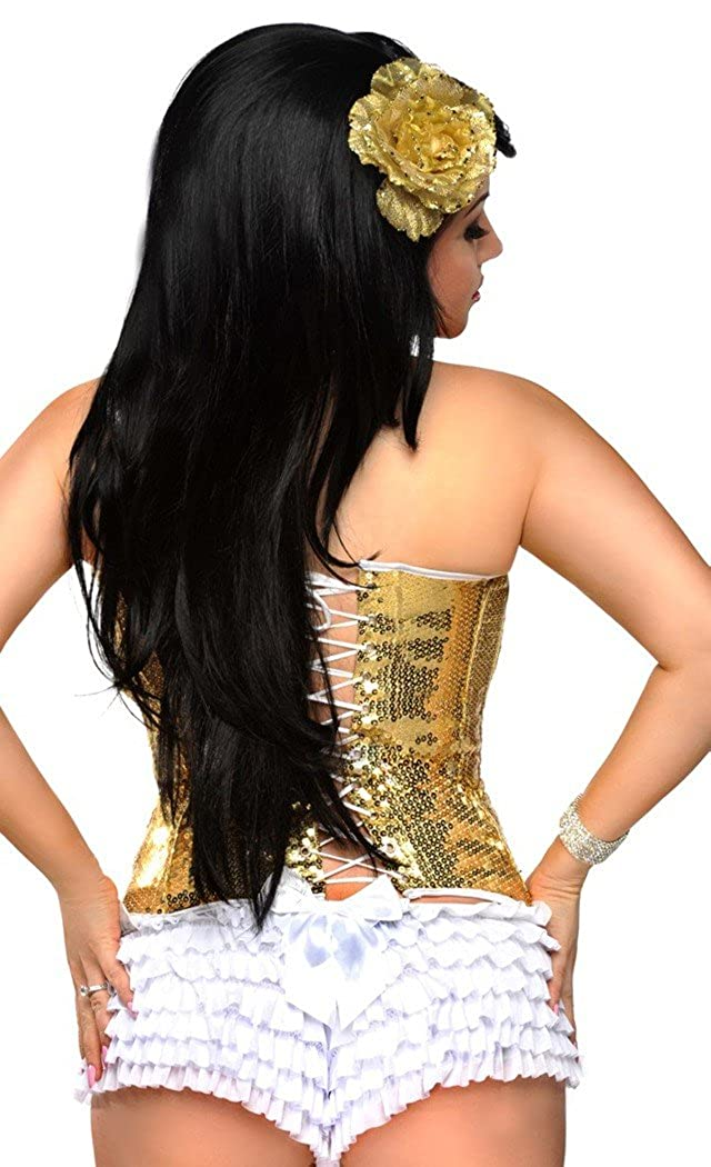 Daisy Corsets Gold Sequin Underwire Corset