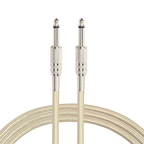 Cable de nylon trenzado Jack audio de 6,5 mm Jack 6.35 a Magiyard cable