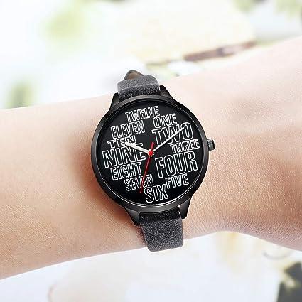 Amazon.com: IBSO Women Fashion Simple Watch Ultra-Thin Retro Quartz Analog Leather Strap Ladies Wristwatch (6610 Black): Watches
