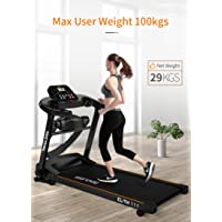 Endless TM-111 Blend (2.0 HP Peak) Motorized Treadmill (with Massager)-Max Speed 12KM/HR (Black) (with Massager)