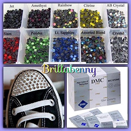 BrillaBenny 500 Strass TERMOADESIVI DmC Quality Termici HOTFIX SS20 / 5MM Colori Misti Color Mix Rhinestone Flatback Crystal Glass Mix MIXDMC