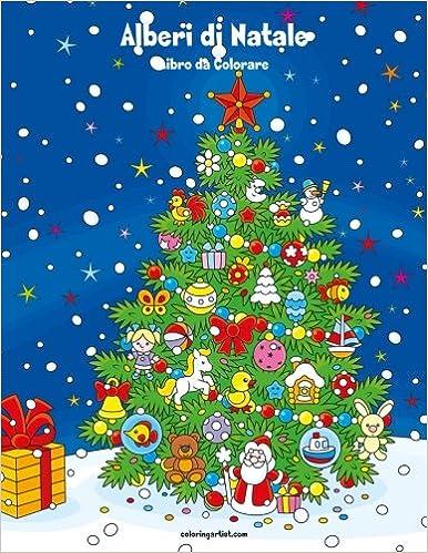 Amazon It Alberi Di Natale Libro Da Colorare 1 Volume 1 Nick