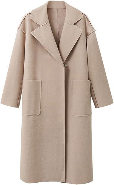 Women Autumn Oversize Duster Coat Loose Cardigan Jacket Long Trench Outwear Top#