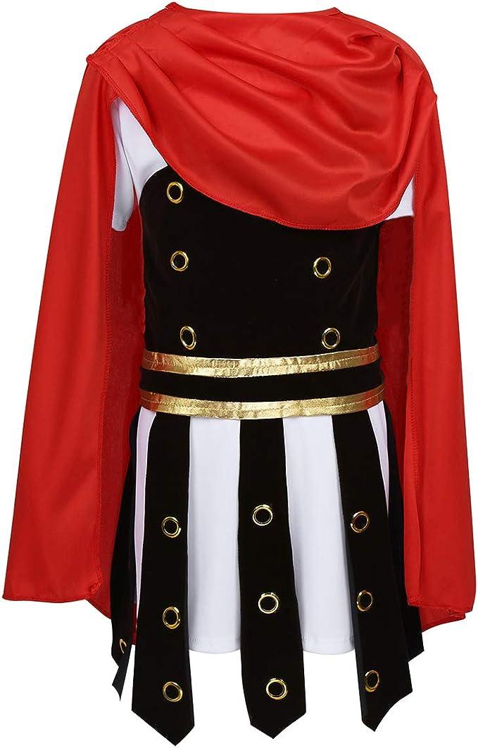 TiaoBug Disfraz Espartano Romano Niños para Carnaval Halloween ...
