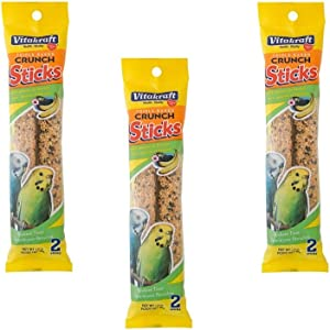 Vitakraft Crunch Sticks with Sesame and Banana Parakeet Treat 2.11 Ounce, Pack of 3