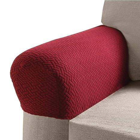 Pleasant Madison Mason Stretch Armrest Covers Brick 2 Piece Inzonedesignstudio Interior Chair Design Inzonedesignstudiocom