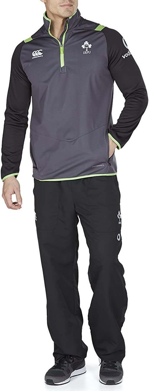 Canterbury Ireland Official 17//18 Mens Rugby Thermoreg Quarter Zip Top