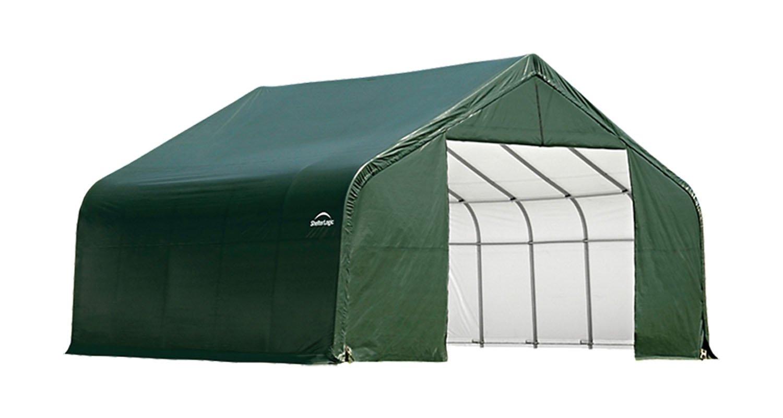 ShelterLogicピークスタイル30 ft。wガレージ/ストレージShelter – グリーン、28 ft。L x 30 ft。w x 16 ft。H、2 3 / 8in。フレーム、モデル# 86052 B001DSKGGG