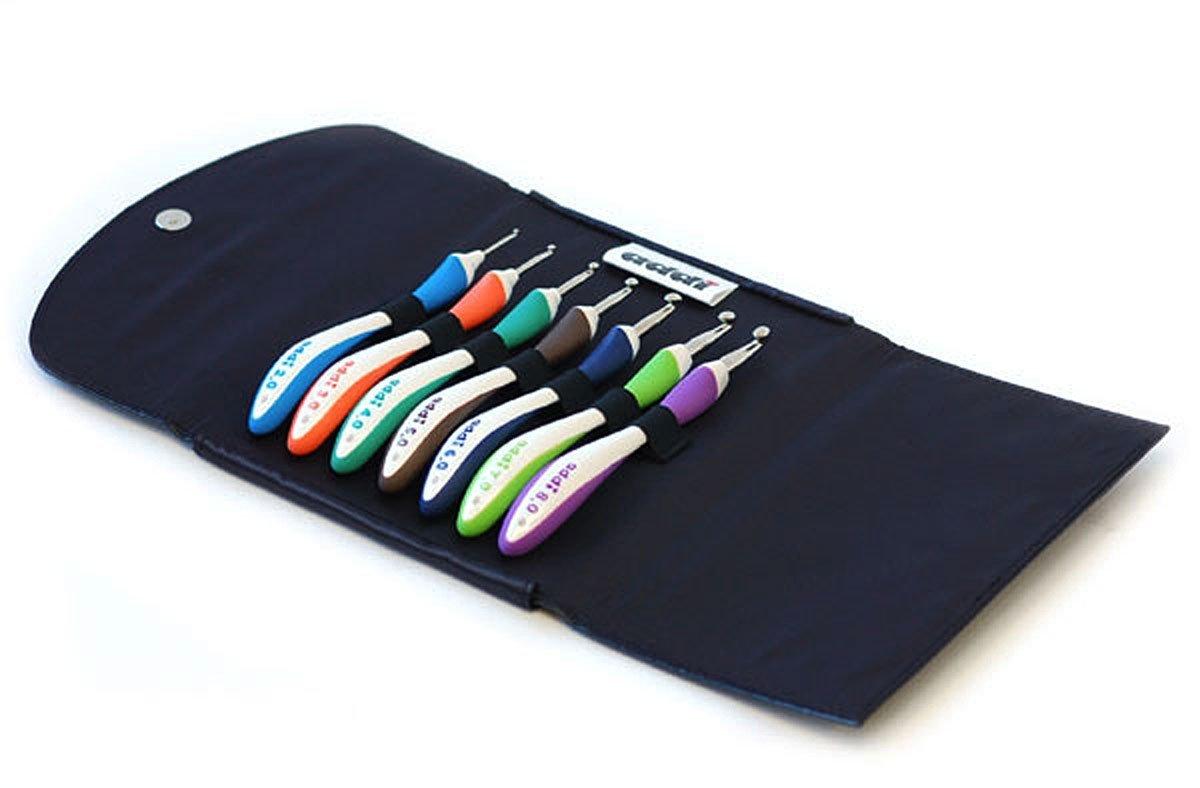addi Crochet Hook Swing Standard Set Bundle with 1 Artsiga Crafts Project Bag by Addi Knitting Needles (Image #2)