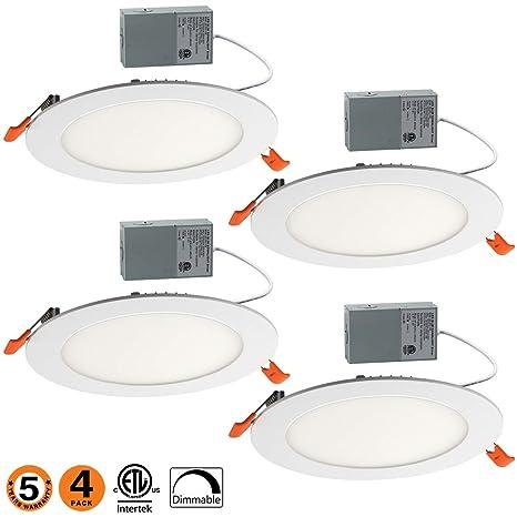 Amazon.com: Lámpara de techo empotrable ultrafina de 12 W, 6 ...