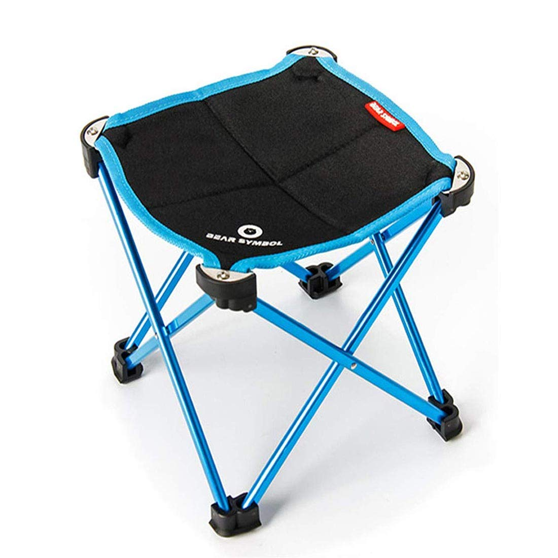 Ultralight Portable Camp Stool,Outdoor Folding Chair Made of 1680D Oxford Cloth and 7075 Aluminum Alloy,for BBQ Camping Fishing Hiking Beach,Withstand Up to 220lbs Capacity,for Adult and Kids.