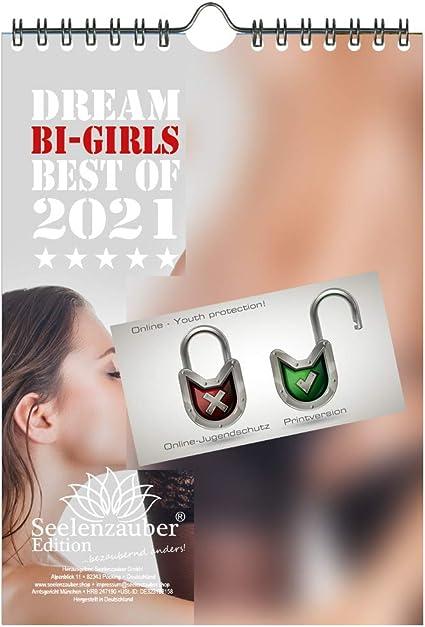 Calendario 2021 (14,8 x 21,0 cm) ragazze lesbiche erotiche sexy Bi