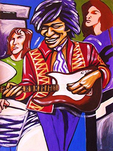 JIMI HENDRIX PRINT POSTER guitar cd lp record album vinyl good karma fender stratocaster mitch mitchell bass noel redding axix bold as - Bass Mitchell