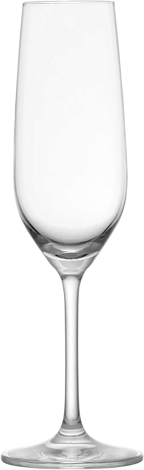 Schott Zwiesel Tritan Crystal Glass Forte Stemware Collection Champagne Flute with Effervescence Points, 7.7-Ounce, Set of 6