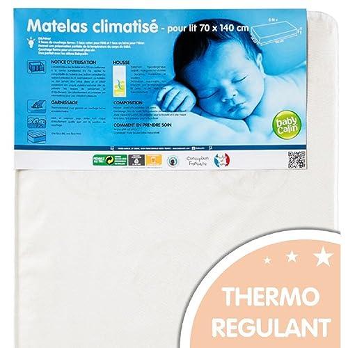BABYCALIN - Matelas bébé hypoallergénique face été hiver – pour lit 70 x 140