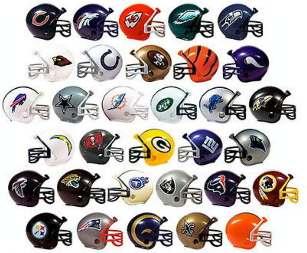 Unbranded NFL Collectible 32 Teams Mini Helmets Set, 2-inch Each