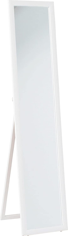 不二貿易 鏡面 スタンド ミラー ホワイト HB-8260N WH 83086 B0049FGPAGホワイト