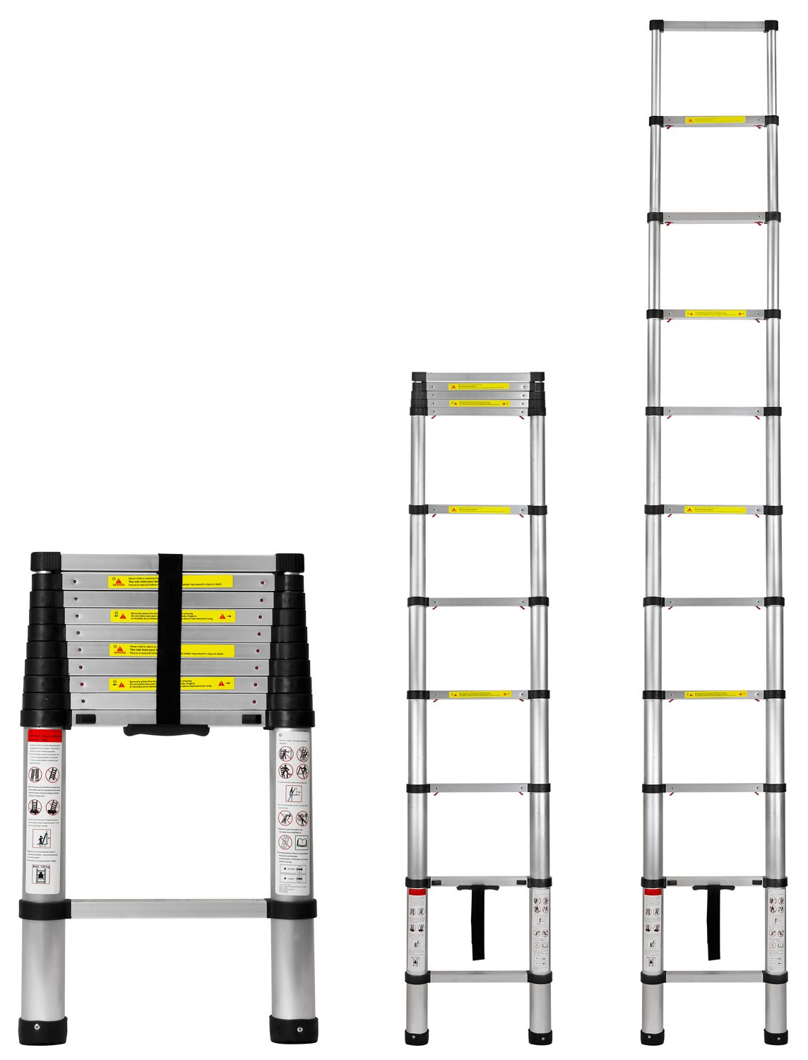 Work-It! Telescoping Ladder 10.5 Ft - Aluminum Extension Ladder with Soft Close Spring Function, EN131 Certified 330 lbs Capacity by Work-It! (Image #1)