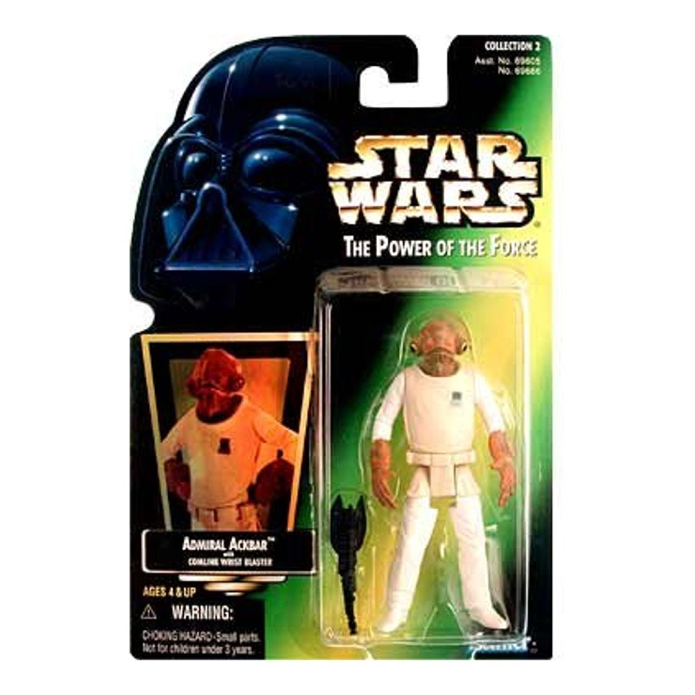 "Star Wars Power of the Force Green Card 3 3/4"" Admiral Ackbar Action Figure"