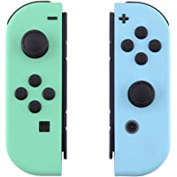 eXtremeRate Soft Touch Grip Mint Green & Heaven Blue Housing with Full Set Buttons, DIY Replacement Shell Case for…