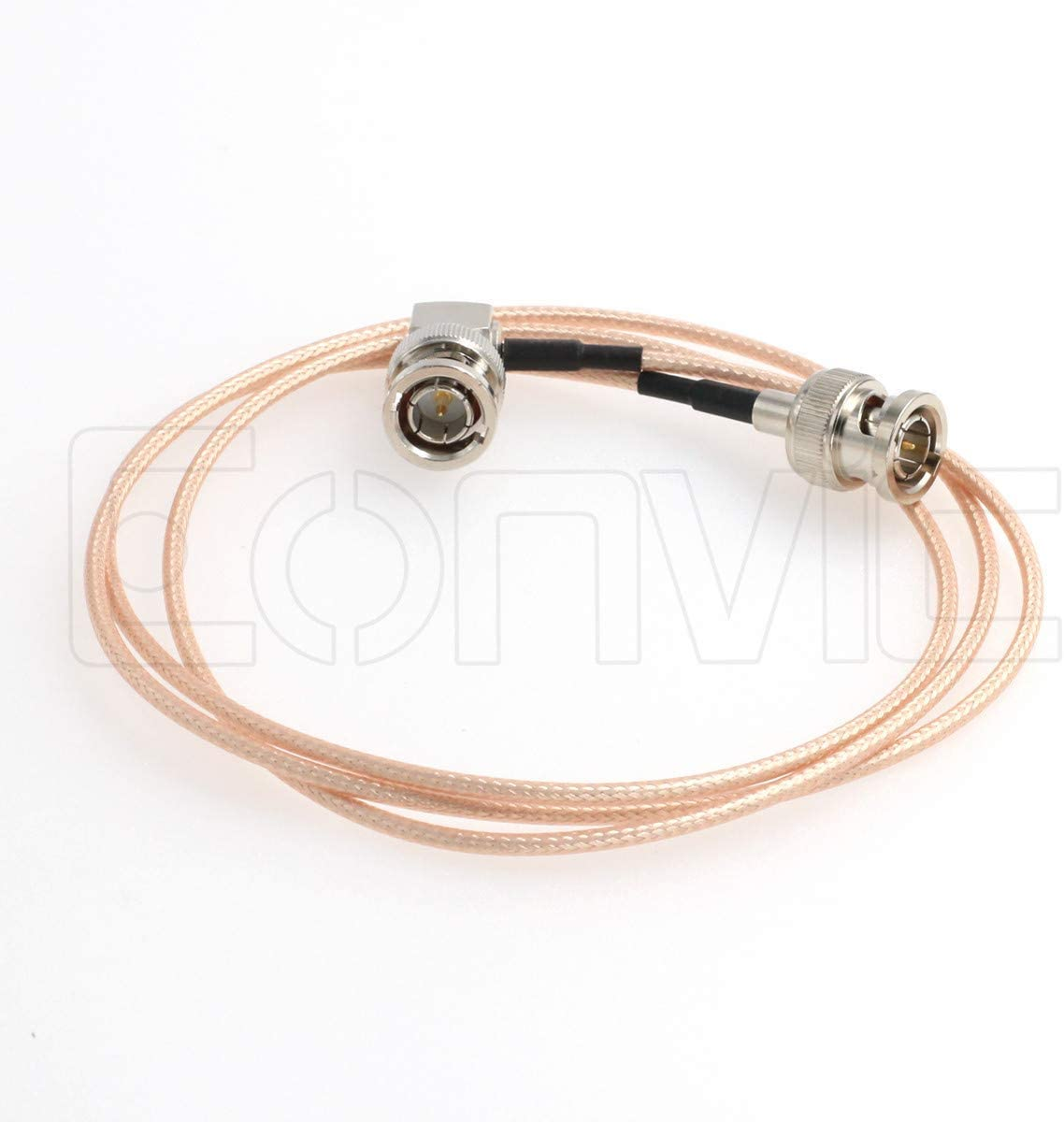 Eonvic RG179 75ohm BNC Plug Right Angle Pigtail Coaxial Cable for fs700 to atomos Recorder or BMCC Video Camera 45cm 45cm //18inch