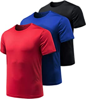 In Touch Mens Jersey Workout Short in Red X-Large