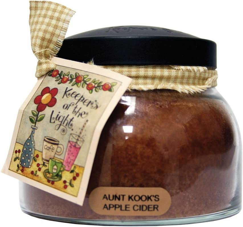 A Cheerful Giver Aunt Kook's Apple Cider Mama Jar Candle, 22-Ounce (JM16)