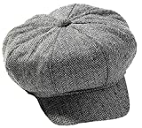 UHC Roaring 20's Tweed Newsboy Herringbone Hat Gatsby Adult Costume Accessory