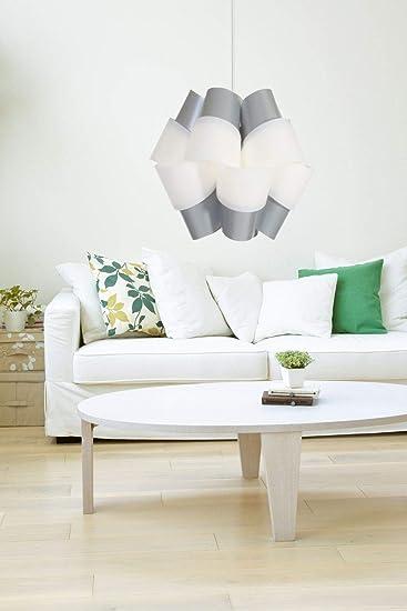 Kayoom HÄNGELAMPE Bouquet GRAU WEIß HÄNGELEUCHTE Lampe DECKENLAMPE  Wohnzimmer