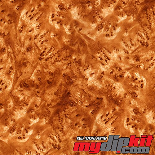 Water Transfer Printing Film - Hydrographic Film - Hydro Dipping - Medium Gold II Burl Wood - BW-65-30 by MyDipKit