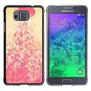 TopCaseStore / la caja del caucho duro de la cubierta de protección de la piel - Heart spit Pink Pattern - Samsung GALAXY ALPHA G850