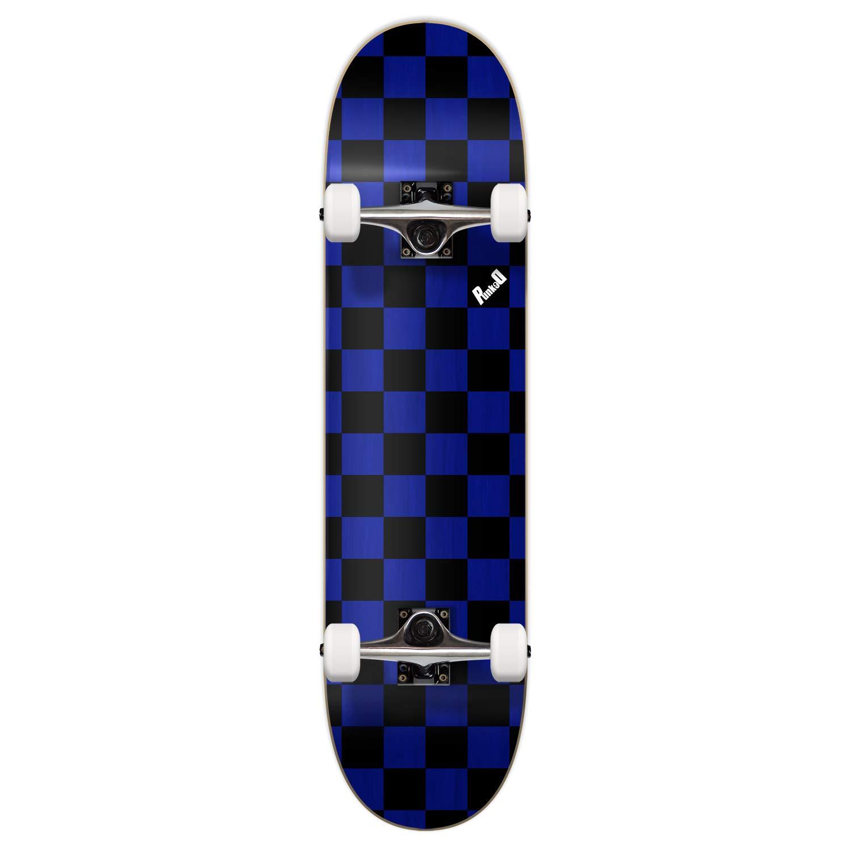 Yocaher Blank Complete Skateboard 7.75'' Skateboards - (Complete 7.75'' Checker Blue)
