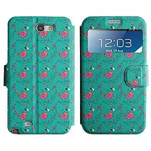 LEOCASE El Canto De Aves Funda Carcasa Cuero Tapa Case Para Samsung Galaxy Note 2 N7100 No.1000034