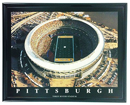 Pittsburgh Steelers Three Rivers Stadium Framed Aerial Photo